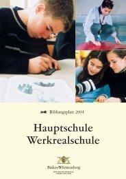 Bildungsplan Hauptschule - GEB Pforzheim