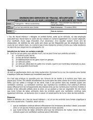 Mines souterraines - Travail sécuritaire NB