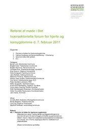 Referat af møde i Det tværsektorielle forum for ... - Kronikerenheden