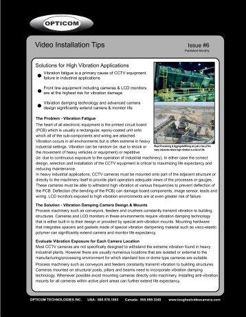 6. Solutions for High Vibration Applications - Opticom