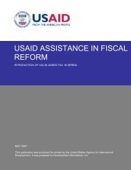 Introduction of value-added tax in Serbia - usaid
