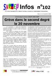 Grève dans le second degré le 20 novembre - snuep