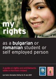 My Rights Romanian & Bulgarian June 2009 - Law Centre NI