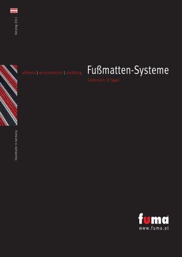 Katalog FUMA Fußmatten-Systeme 2011 als PDF