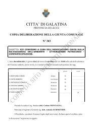 copia delibera - Comune di Galatina