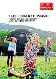 KLANGSPUREN LAUTSTARK - Klangspuren Schwaz