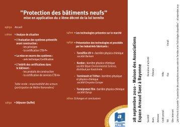 """""""Protection des bâtiments neufs"""""""