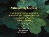 Presentation: Anticipating Success - Invasive Plant Control, Inc.