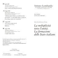 ciclo 2010 stato italiano - Istituto Lombardo Accademia di Scienze e ...