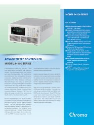 advanced tec controller model 54100 series - Chroma Systems ...