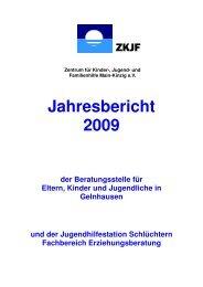 Jahresbericht 2009 - Zentrum für Kinder-, Jugend