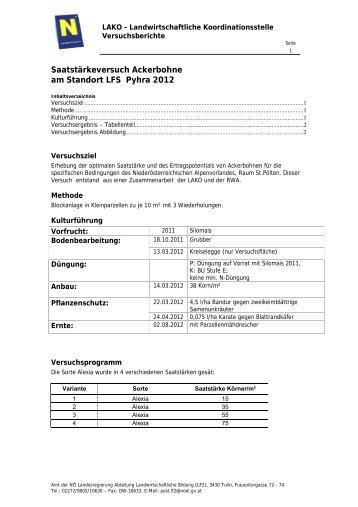 2012 - Landwirtschaftliche Fachschule Pyhra