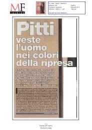 Pitti - L'uomo veste i colori della ripresa - Comune di Firenze
