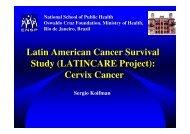 Latin American Cancer Survival Study (LATINCARE ... - EPI 2008