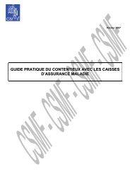 GUIDE DES CONTENTIEUX DE LA SECURITE SOCIALE ... - CSMF