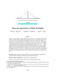 Some new approaches to infinite divisibility - University of Cyprus