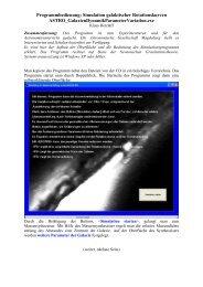 Programmbedienung: Simulation galaktischer Rotationskurven ...