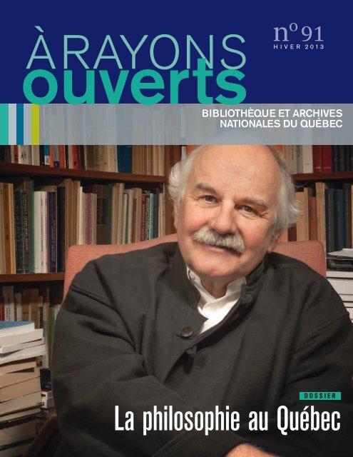 RAYONS ouverts - Bibliothèque et Archives nationales du Québec
