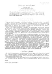 How to write (and read) a paper - Department of Theoretical Physics