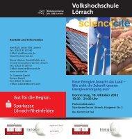Volkshochschule Lörrach Neue Energien braucht das Land