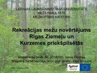 Rekreācijas mežu novērtējums Rīgas Ziemeļu un ... - maplas