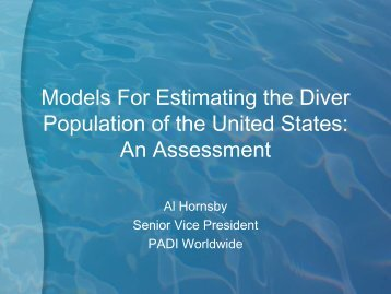 Models For Estimating the Diver Population of the United States: An ...