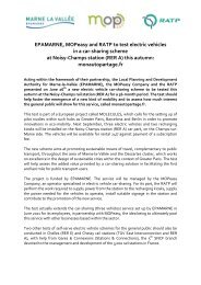 [PR electric vehicles in a car-sharing scheme ... - Marne-la-Vallée