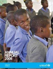 ANNUAL REPORT 2008 - Unicef