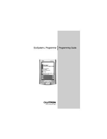 Lutron EcoSystem Programming - Lutron Lighting Installation ...
