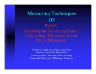 Measuring Techniques D3 - University of Michigan