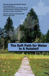 The Soft Path for Water in a Nutshell - Chiefs of Ontario
