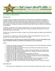 Inmate Rights and Responsibilities INTRODUCTION ... - Polk County