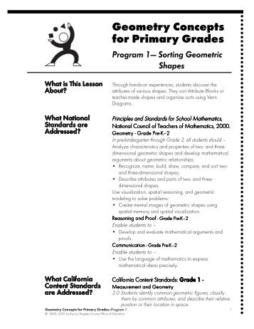 Geometry Concepts for Primary Grades - Discovery Education