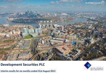 here - Development Securities PLC