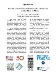 Symposium Gender Transformations in the Arabian ... - cefas