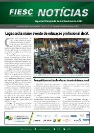 Lages sedia maior evento de educação profissional de SC - Fiesc