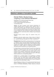 Statistical validation of simulation models Ramesh Rebba, Shuping ...