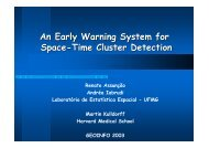 An Early Warning System for Space-Time Cluster D etection