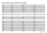 Beneficiarios Programas Sociales Diciembre 2010