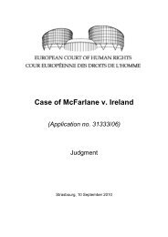 Case of McFarlane v. Ireland (Application no. 31333/06) - The ...