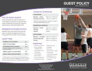 Guest Policies - Genesys Athletic Club
