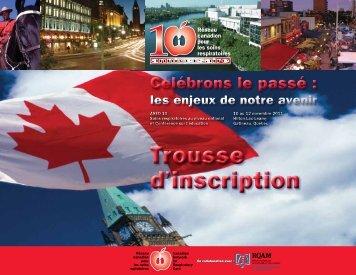 un PDF de la trousse d'inscription 2011. - Réseau québécois de l ...