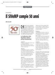 Editoriale. Il SIVeMP compie 50 anni