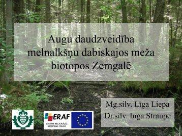 Augu sugu daudzveidība melnalkšņu dabiskajos meža ... - maplas
