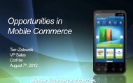 Opportunities in Mobile Commerce - Globecomm Systems Inc.