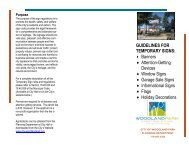 Banners and Temporary Signs Brochure - City of Woodland Park