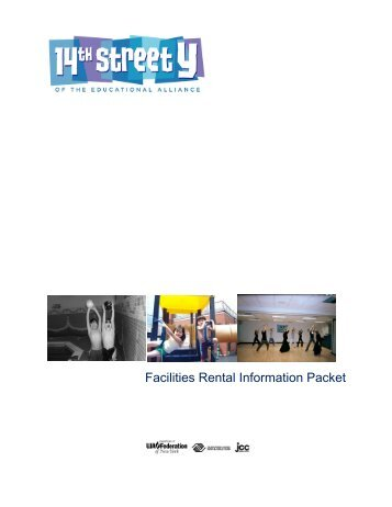 Facilities Rental Information Packet - 14th Street Y