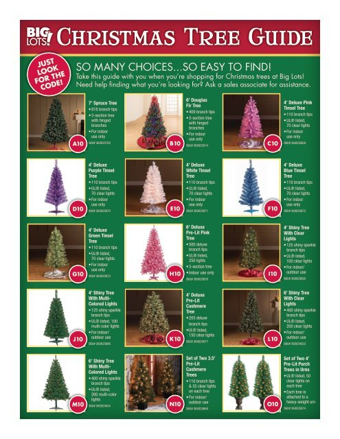 Big Lots Christmas.Christmas Tree Guide Big Lots