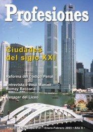 Ciudades del siglo XXI Ciudades del siglo XXI - Revista Profesiones