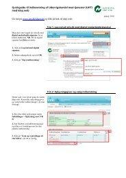 Quickguide til indberetning af Udenrigshandel med tjenester (UHT ...